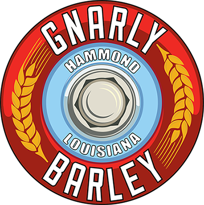 Gnarly Barley Brewing Co  wheel logo Hammond, LA Louisiana